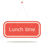 Lunch time — Stock Vector