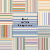Lined patterns set — Stock Vector