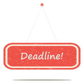 Deadline — Stock vektor