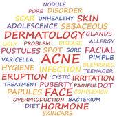 Acne disease — Wektor stockowy