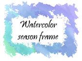 Watercolor winter frame  — Stock Vector
