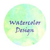 Watercolor frame design. — Stock Vector