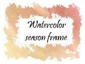 Watercolor autumn frame  — Wektor stockowy