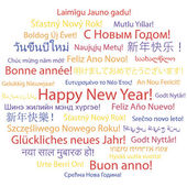 Happy New Year in different languages. — Stock Vector