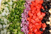 Chopped vegetables on a plate — Stock Photo