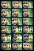 Portrait photo of the little girl in the Park in summer — Stock Photo
