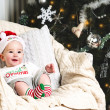 New year baby under the christmas tree — Stock Photo #35725149