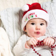 New year baby under the christmas tree — Stock Photo #35725159