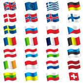 Flags of Europe — Stock Vector