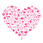 Heart shape icons — Stock Vector #45206649