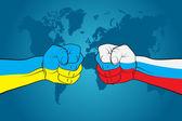 Ukraine versus Russia — Stock Vector
