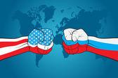 USA versus Russia — Stock Vector