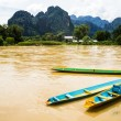 The beautiful landscape of vang vieng,laos — Stock Photo