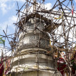 Bamboo scaffolding for reconstruction Pagoda in the temple of Th — Stock Photo