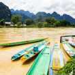 The beautiful landscape of vang vieng,laos — Stockfoto