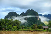 View of Vang Vieng, Laos — Stock Photo
