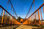 Bridge over song river, vang vieng, laos — Stock Photo