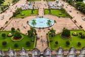 Blick vom patuxai, vientiane, laos — Stockfoto