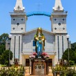 Stock Photo: Catholic church, Nakhon Panom, Thailand.