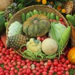 Array of fruit and vegetables — Stock Photo