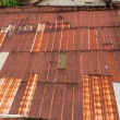 Stock Photo: Rusty Zinc grunge roof