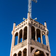 Cross on Belfry of Modern Christian Church Under Blue Sky — Stock Photo
