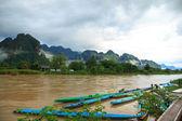 View of Vang Vieng, Laos — Stock Photo