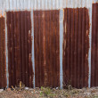 Stock Photo: Zinc fence