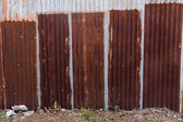 Zinc fence — Stock Photo