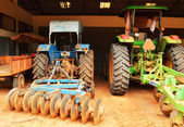Garage used in agriculture. — Stock Photo