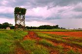 Granja en la temporada de lluvias. — Foto de Stock