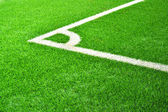 Ecke des feldes fußball. — Stockfoto