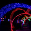 Stock Photo: Tunnel of neon light in new year