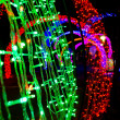 Stock Photo: Neon light in new year