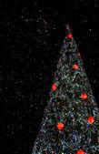 Gece noel ağacı — Stok fotoğraf