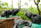 Buvolí socha — Stock fotografie