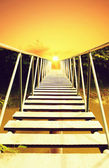 桥接至太阳 — 图库照片