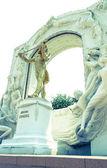 The Statue of Johann Strauss — Stock Photo