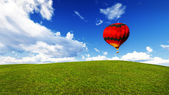 Balloon in a meadow — Stock Photo