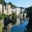 Summer view of the French town Oloron-Sainte-Maria — Stock Photo