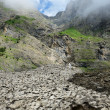Stock Photo: Glacier (le pont de neige) in summer Pyrenees