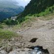 Stock Photo: Tourist route in summer Pyrenees