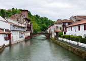 Basque town in the French Pyrenees — Stock Photo