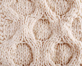 Close-up of knitted cloth with relief tracery — Stock Photo