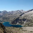 Panorama of Neouvielle mountain with two lakes. — Stock Photo