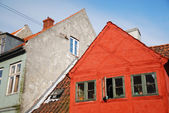 Ancient buildings of Danish town — Stock Photo