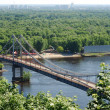 Dnipro with bridge to the Truhanov island, Kyiv — Stock Photo