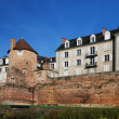 Ancient fortified wall in the French city Le Mans — Stock Photo #34252559