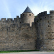 Old defense walls of Carcasson castle, France — Stock Photo
