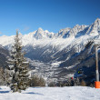 Chamonix's valley in winter — Stock Photo